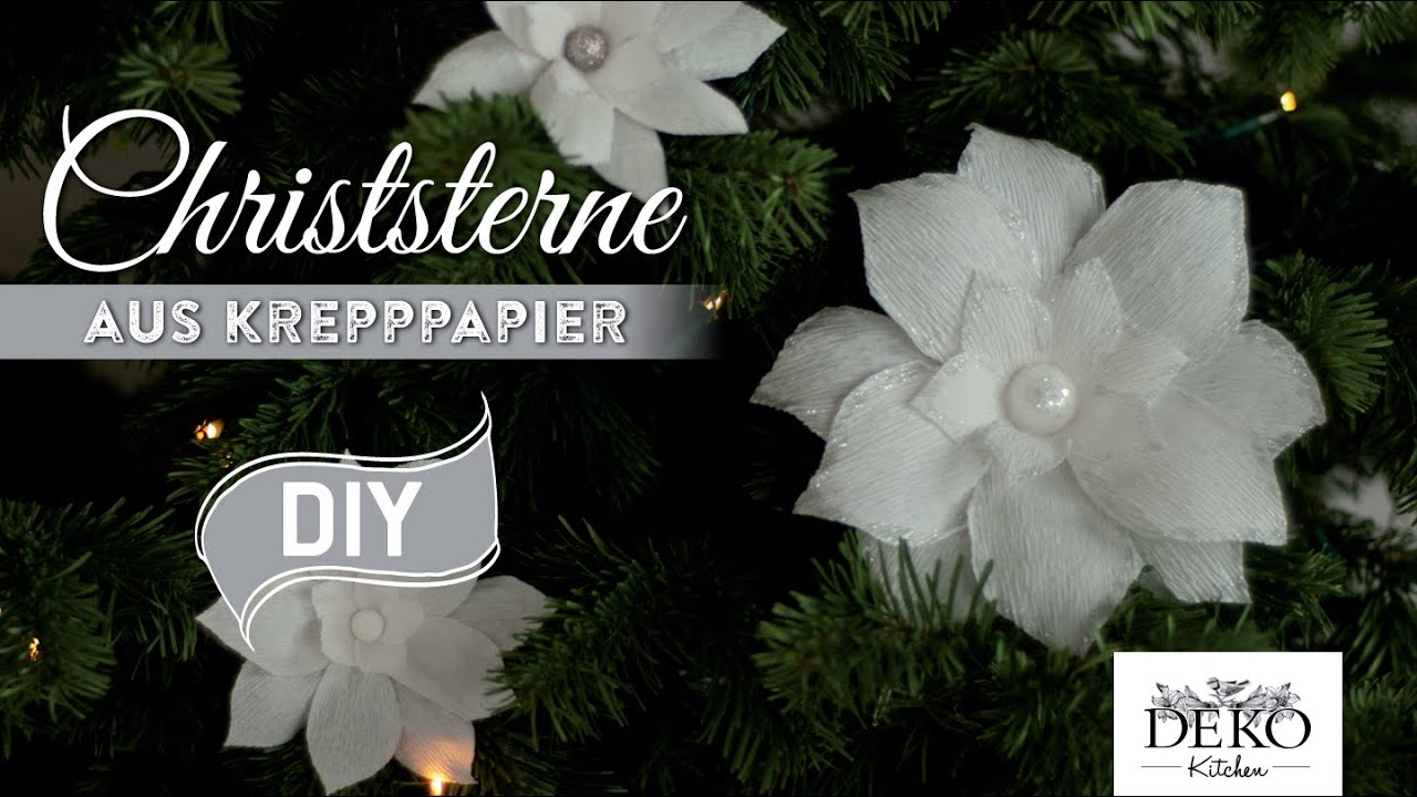 Superb Weihnachtsdeko Basteln: Christsterne Aus Krepppapier How To | Deko Kitchen    YouTube Photo