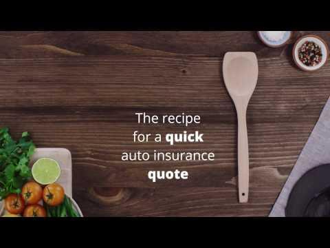 The recipe for a quick auto insurance quote