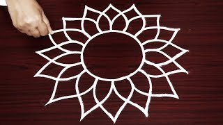 creative friday rangoli designs - simple kulam designs without dots - easy muggulu art with freehand