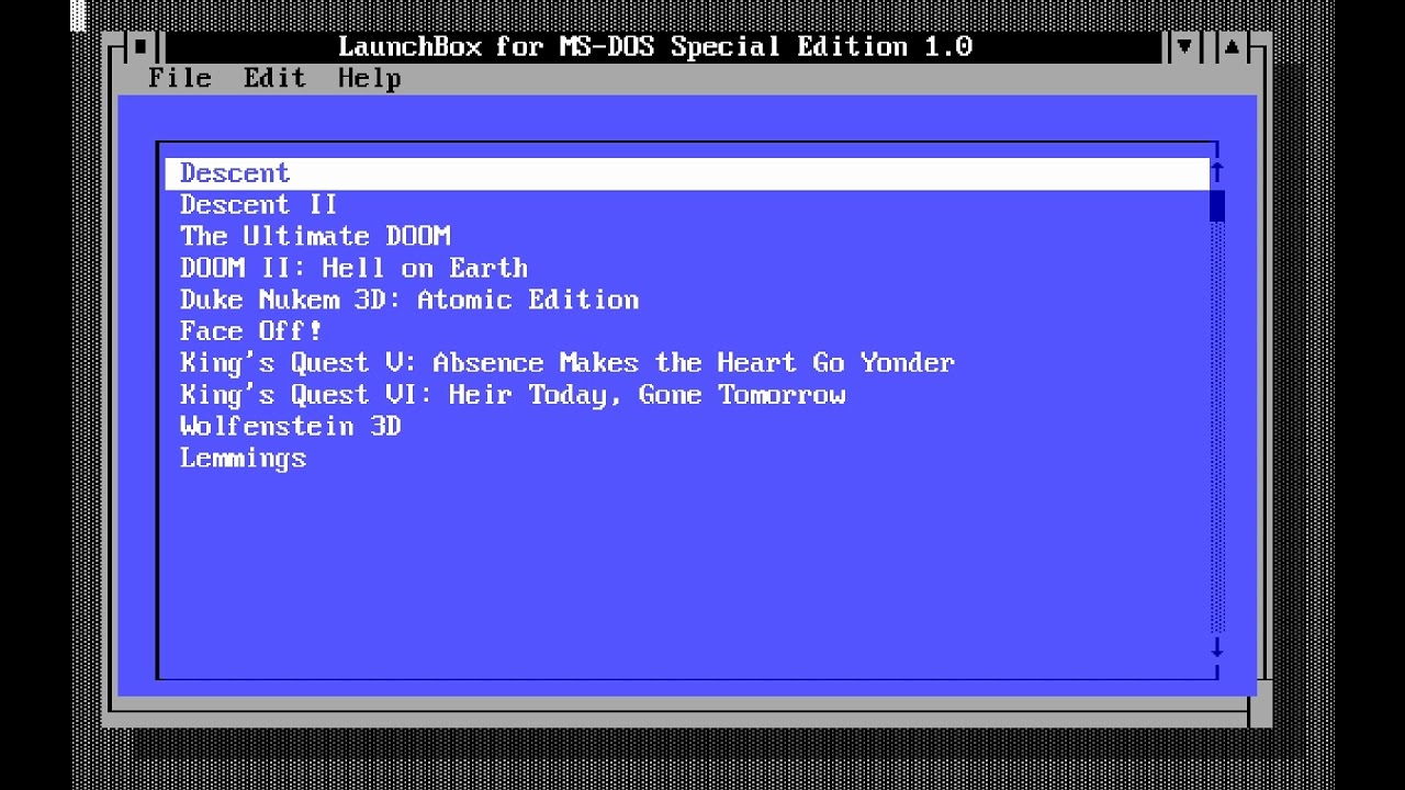 LaunchBox for MS-DOS Special Edition - LaunchBox/Big Box