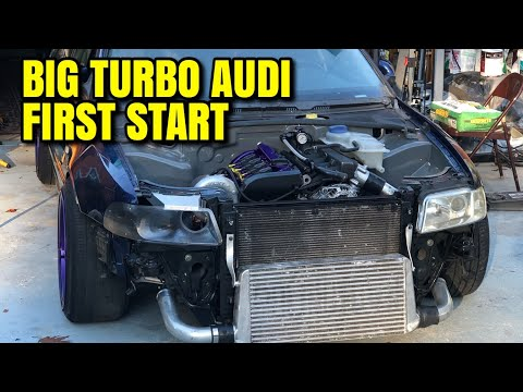 Audi A4 1.9T Big Turbo FIRST START!