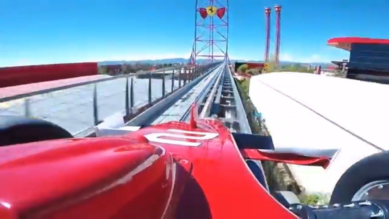 Red Force Roller Coaster Pov Ferrari Land Portaventura World Spain Youtube