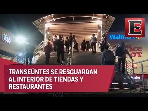 Balacera en plaza comercial de Oaxaca desata pánico entre civiles
