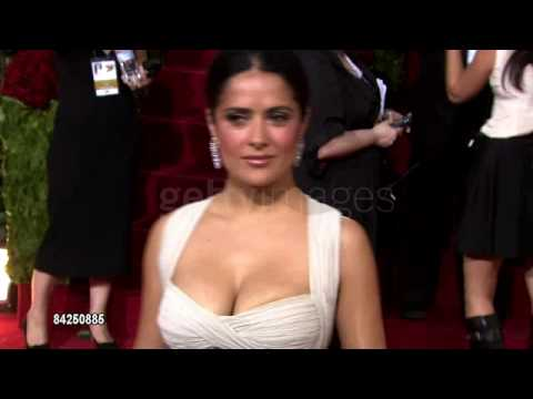Getty Images Salma Hayek Golden Globes 2009