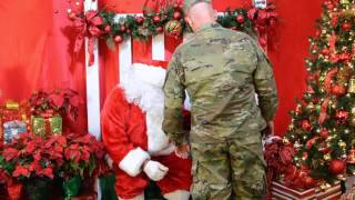 Brother Returns from Army to Surprise Sister at Lake Butler Hospital Christmas Extravaganza