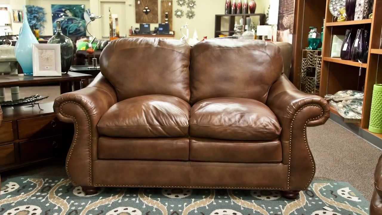 Leather Italia Duplin Loveseat. Nebraska Furniture Mart