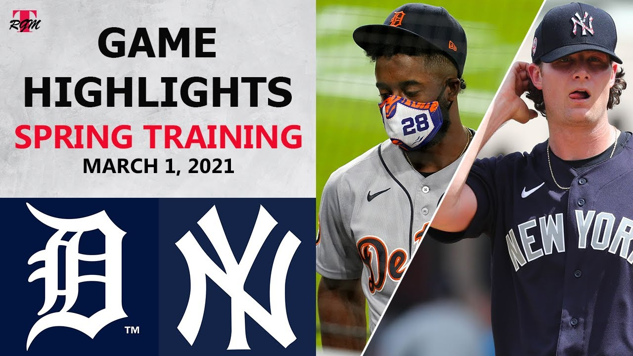 Download Detroit Tigers vs. New York Yankees Highlights   March 1, 2021 (Spring Training)