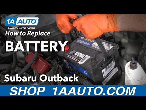 How to Replace Battery 15-19 Subaru Outback