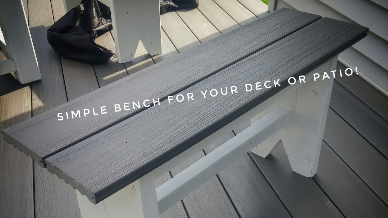 Synthetic Deck Boards Diy Outdoor Benches Made With Composite Deck Boards