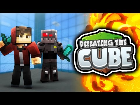 Minecraft: Defeating The Cube! (Funny...