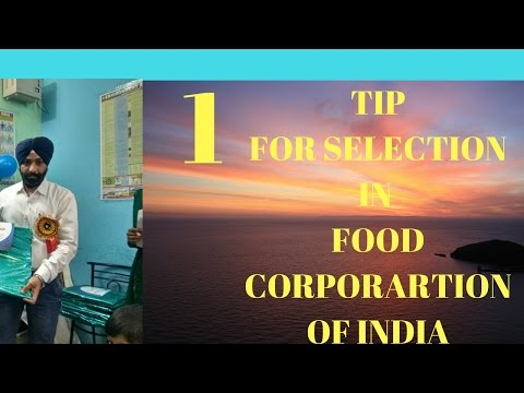 Food corporation of India  job Selected student Strategy in hindi