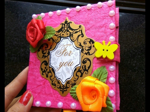 How To Make Mini Scrapbook Diy Scrapbook Tutorial Gift Idea