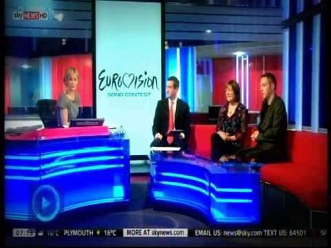 Dr Eurovision and Nicki French Sky News live TV Interview May 2013