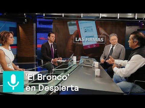 Jaime Rodríguez Calderón 'El Bronco' en el estudio de Despierta - Despierta con Loret