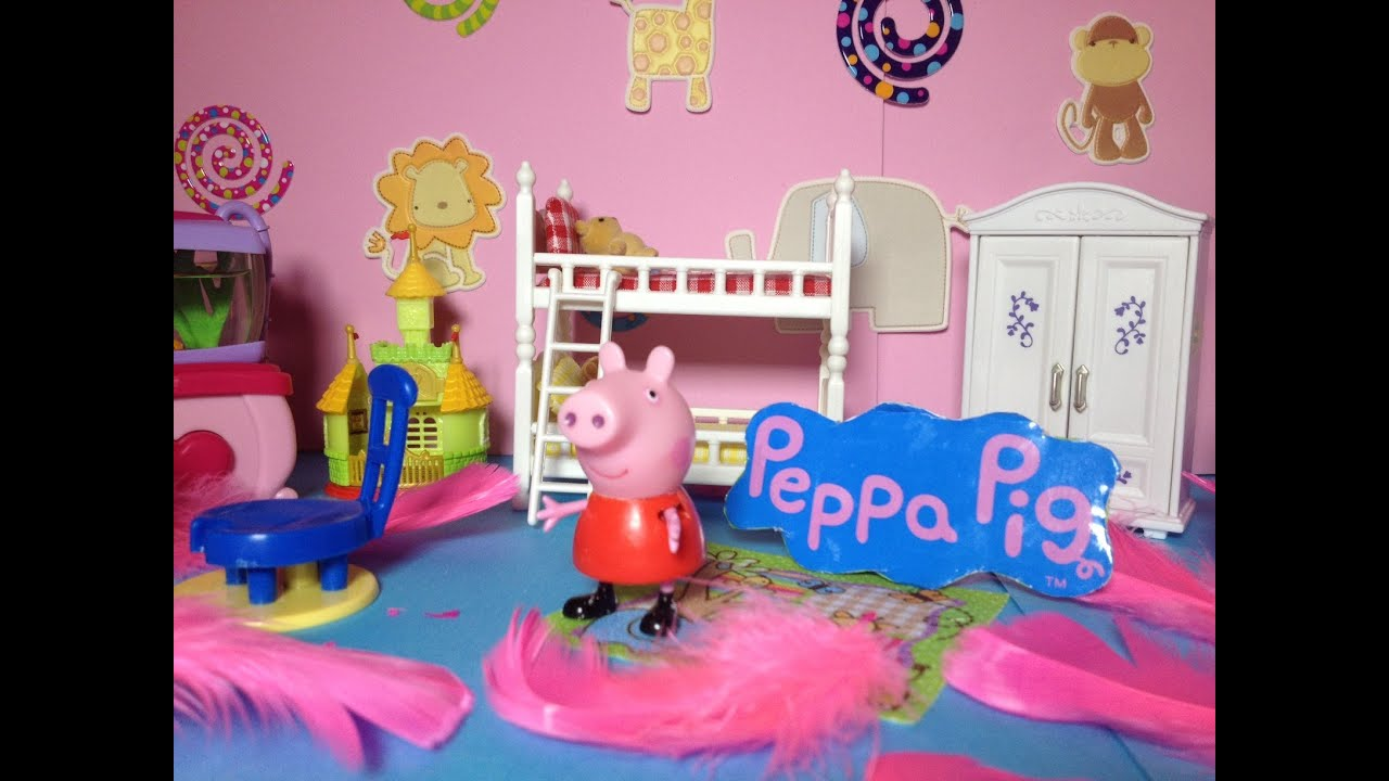Peppa pig nickelodeon peppa design peppa 39 s bedroom a bbc for Junior room decor ideas