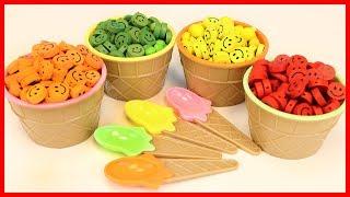 彩色笑臉冰淇淋玩具裡藏著凱蒂貓呢 北美玩具