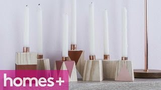Diy Project: Wooden Candle Holder - Homes+