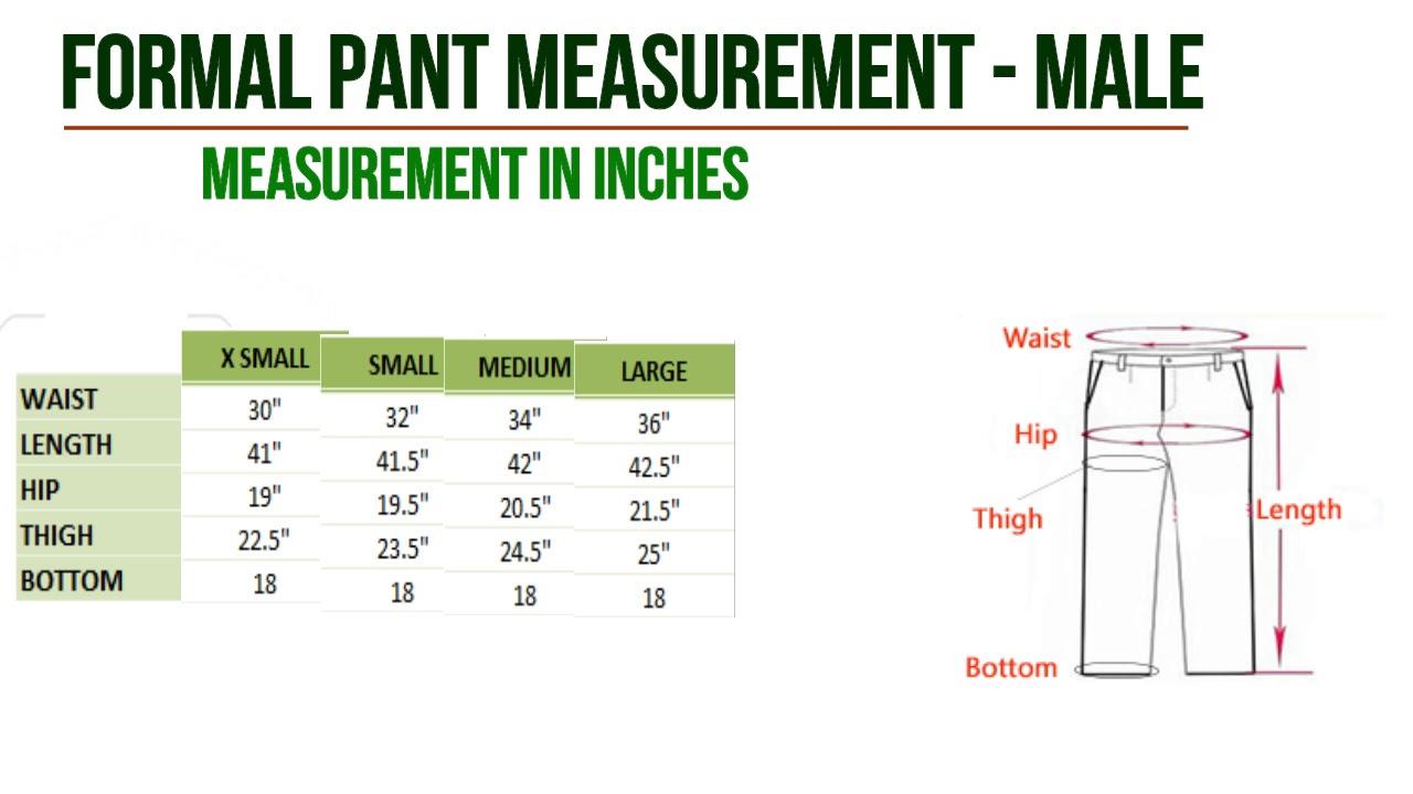 Mens Dress Shirt Size Chart