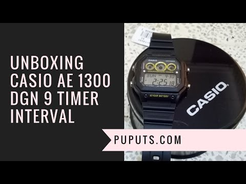 Unboxing Casio AE 1300WH Dengan 9 Interval Timer