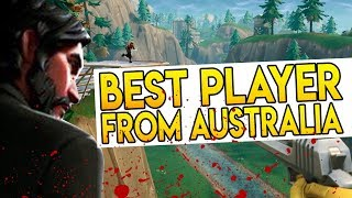 "Best Player from AUSTRALIA in Fortnite Battle Royale ""BEST BUILDER?"" + Free V Bucks Giveaway"