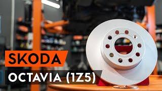 How to change Brake discs and rotors on SKODA OCTAVIA Combi (1Z5) - online free video