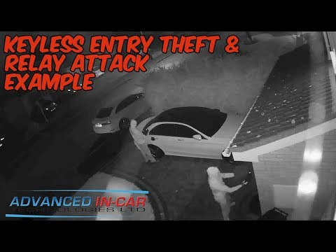 Mercedes Stolen in 60 sec - Keyless Entry Theft & Relay Attack