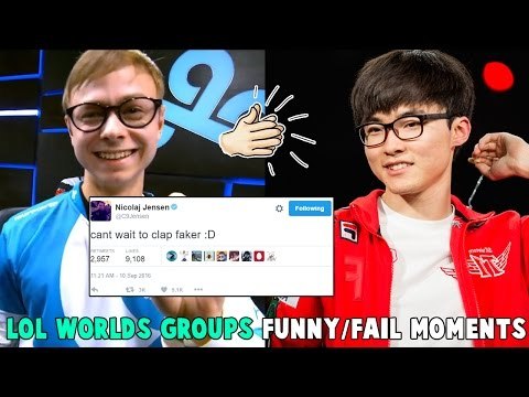 LOL WORLDS GROUPS FUNNY/FAIL MOMENTS - 2016 League of Legend