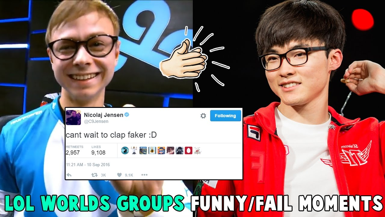 LOL WORLDS GROUPS FUNNY/FAIL MOMENTS   2016 League of Legends