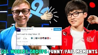 LOL WORLDS GROUPS FUNNY/FAIL MOMENTS - 2016 League of Legends