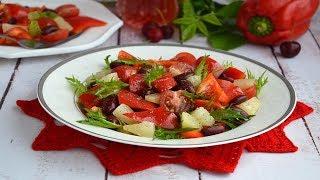 Салат с красным болгарским перцем