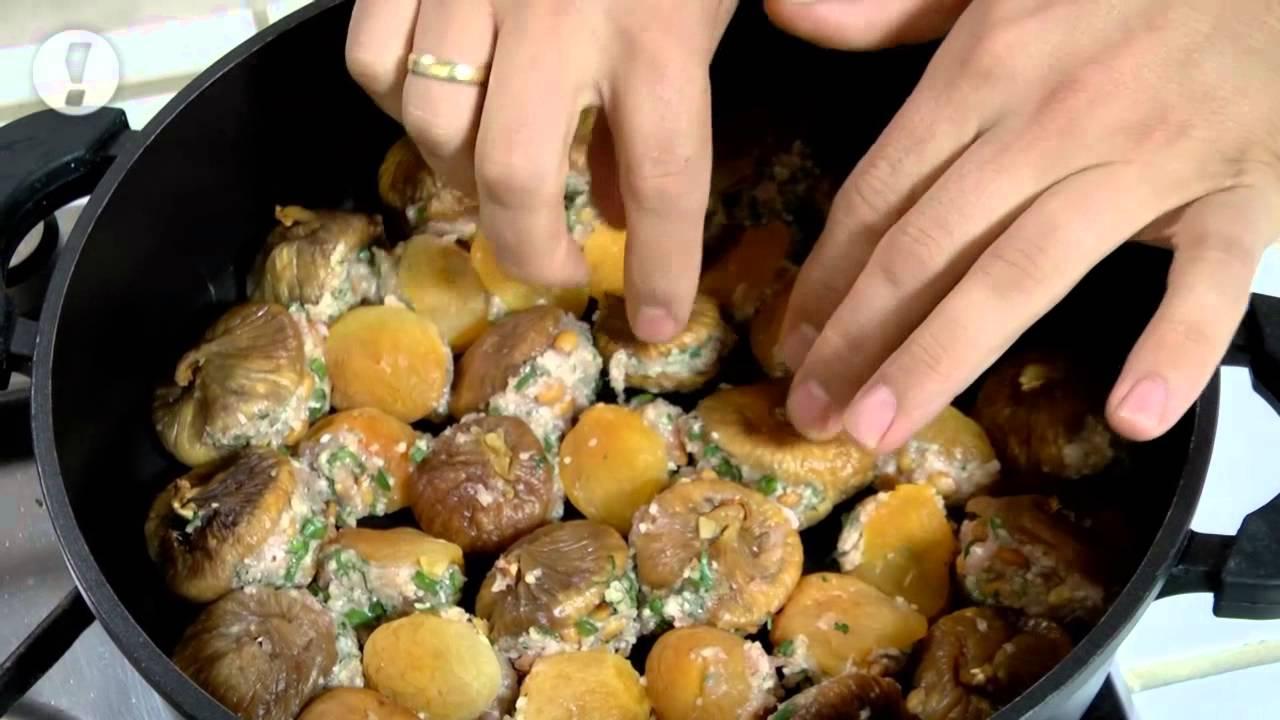 מתכוני סוגת: פירות מיובשים ממולאים בתערובת פרגיות