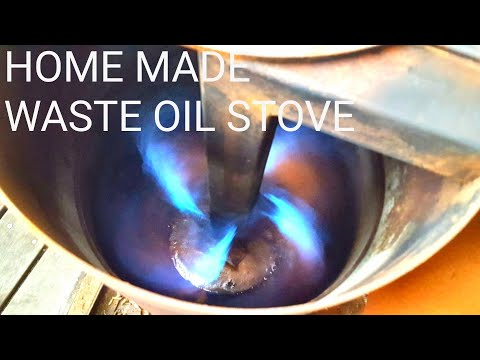 HOMEMADE WASTE OIL HEATER MORE DETAIL