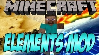 Minecraft: The Element Bending Mod ! Fire Water Earth And Air Bending !