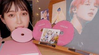 ASMR EDIBLE *BTS* CD EXTREMELY CRUNCHY SOUNDS 먹는 방탄소년단 CD 食用 BTS CD
