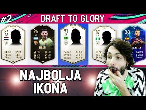 TRI IKONE U NAJVEEM DRAFTU DO SADA! FIFA 19 Draft To Glory #3