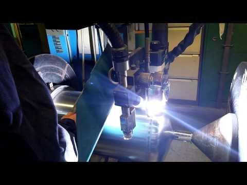 SAF Plasma TIG Seam Welding System for Welding Dished End Vessels
