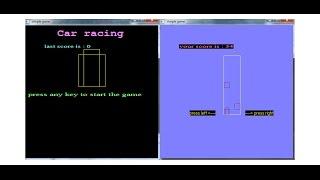 car racing game _ c++ graphics with source code برمجة