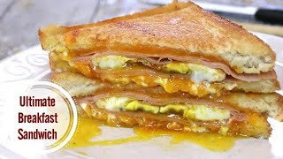 Ham Egg and Cheese Breakfast Sandwich - The Ultimate Meal
