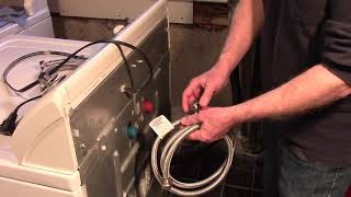 Replacing Washing Machine Hose…