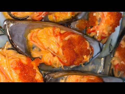 How to make Sushi baked mussels