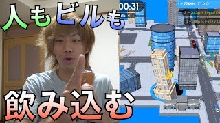 2分間で穴を成長させて街中の物を吸い込むゲーム【Hole.io】
