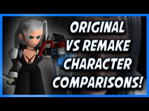 1997 FF7 VS 2020 FF7 Remake: Character Model Comparisons!