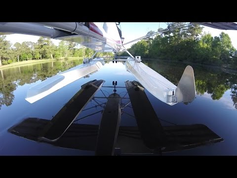 2nd landing on water with Puddle Jumper floats