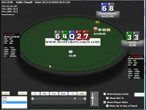 18 Heads UP POKER Donk   Betting the Flop