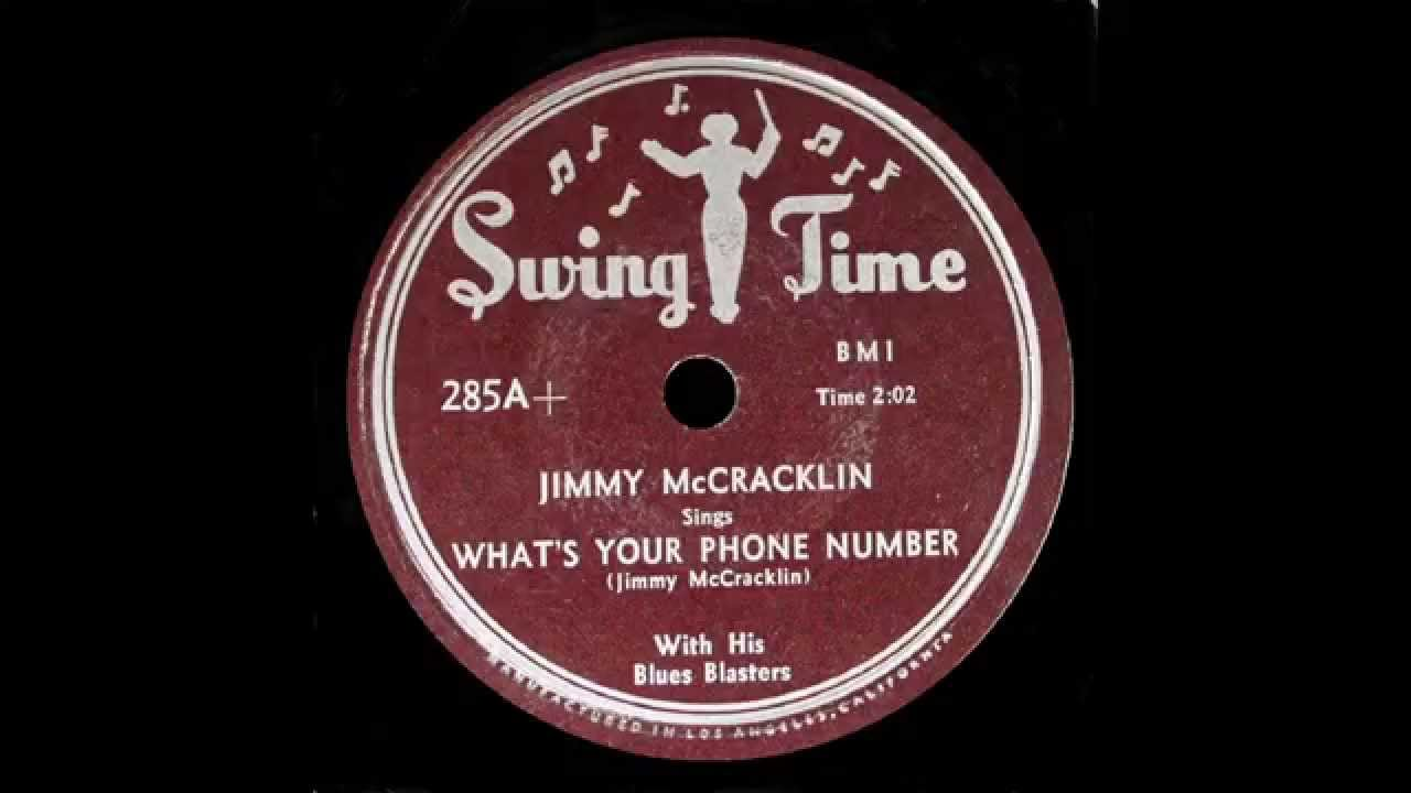 Jimmy McCracklin - What's Your Phone Number - YouTube