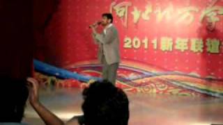 pakistani student singing chinese song in welcom party of 2010 batch