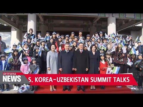 South Korea-Uzbekistan bilateral summit takes place at Seoul's Blue House