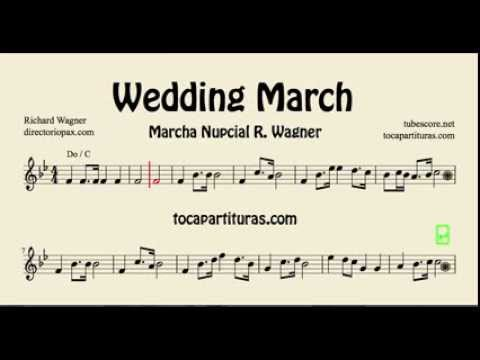 Wedding March Wagner Sheet Music for flute, violin, oboe...