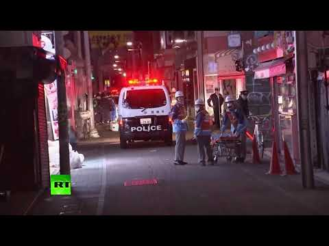 Car rams into revelers in downtown Tokyo