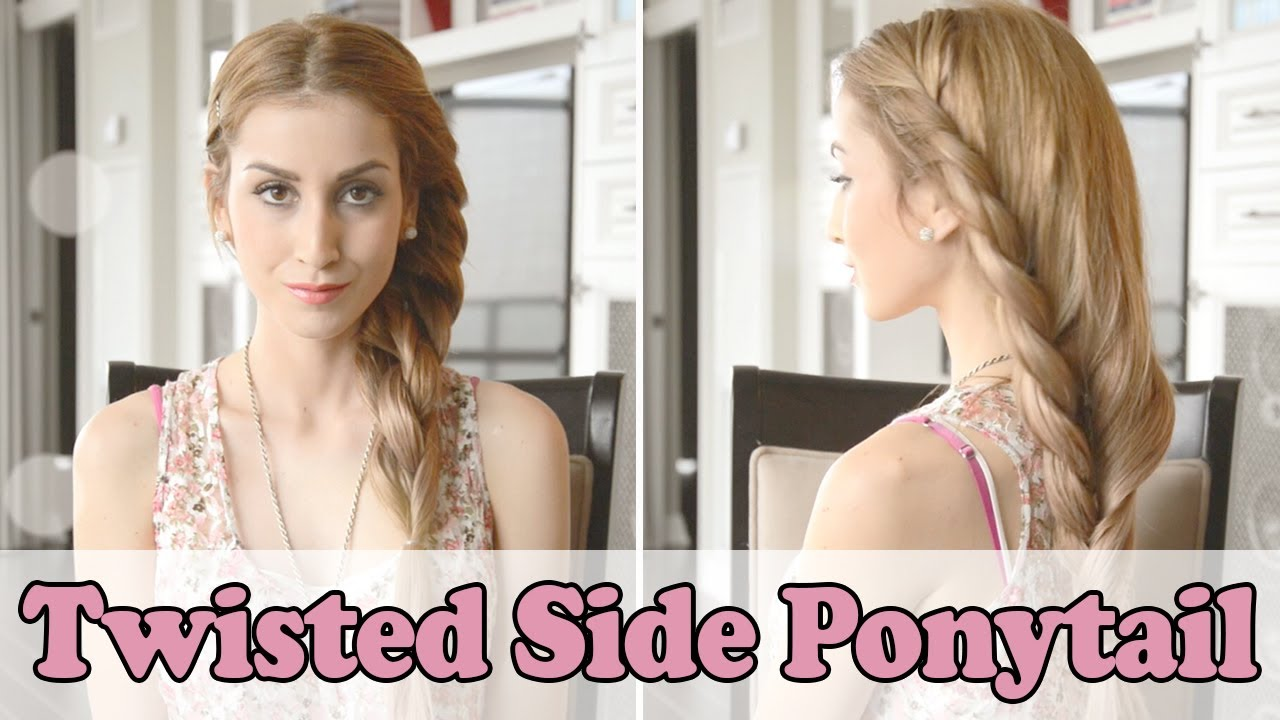 Elegant side hairstyles - Beautiful Twisted Side Ponytail Hairstyle Fancy Hair Tutorial Youtube